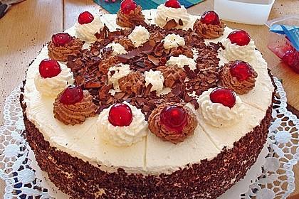 Kirsch - Schokosahne - Torte Schwarzwälder Art 6