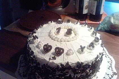 Kirsch - Schokosahne - Torte Schwarzwälder Art 7