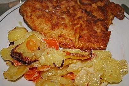 Kartoffel - Möhren - Gratin 2
