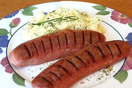 Augsburger mit Kartoffelpüree