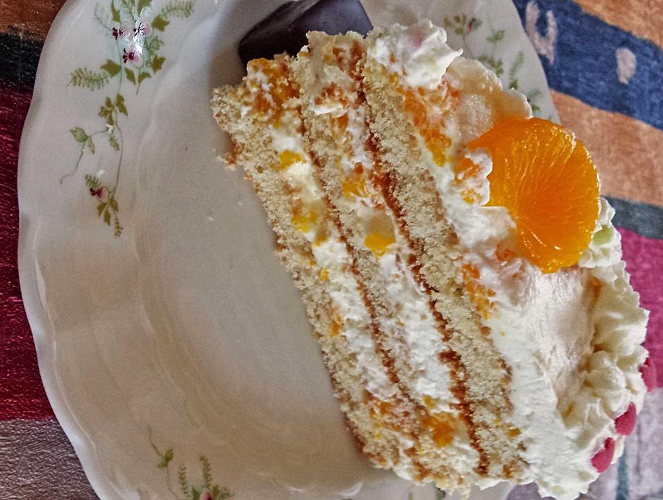 Mandarinen Sahne Torte Von Mipala Chefkoch De