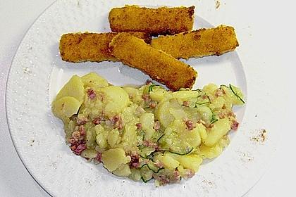 Kartoffelsalat mit Dörrfleisch und Gurke 5