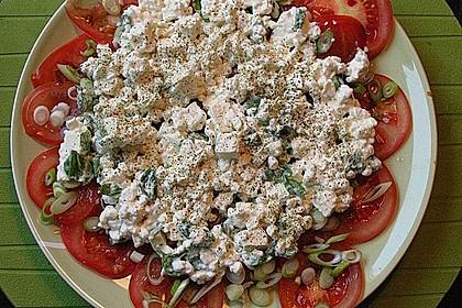 Tomatencarpaccio mit Hüttenkäse 4