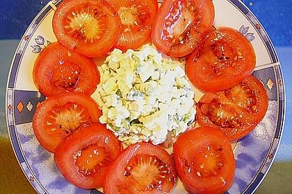 Tomatencarpaccio mit Hüttenkäse 12