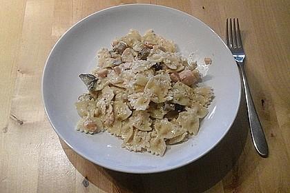 Pasta mit Lachs - Carbonara