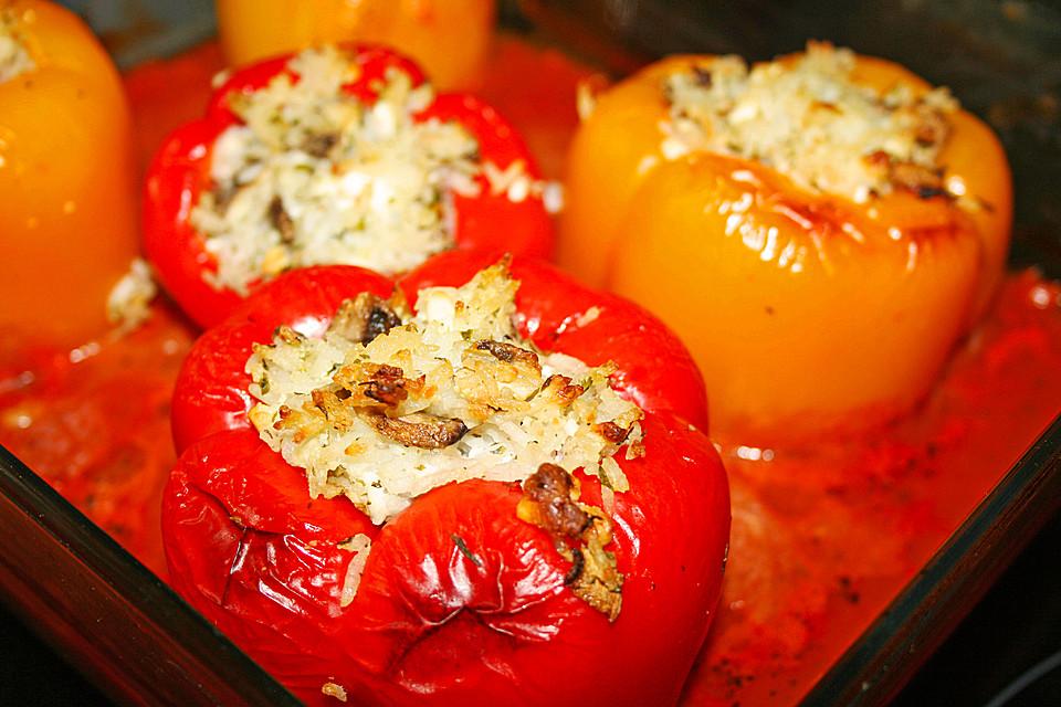 Vegetarisch Gefüllte Paprika Mit Feta Von Bloergh Chefkochde