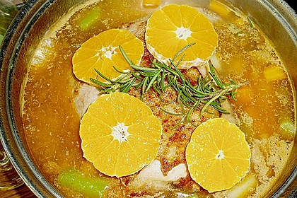 Putenkeule in fruchtiger Sahnesauce 1