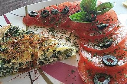 Quiche mit Spinat und Ziegenfrischkäse (Bild)