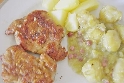 Schweinefilet auf Süßkartoffelpüree mit Lebkuchenjus und Rosenkohl 83