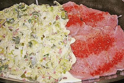 Lauch - Frischkäse - Schnitzel 20