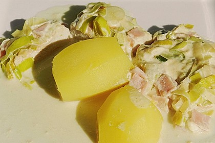 Lauch - Frischkäse - Schnitzel 13