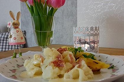 Blumenkohl in Schinken - Käse - Sauce 4