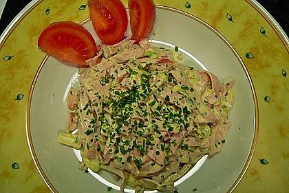 Putenwurstsalat mit Hüttenkäse 1