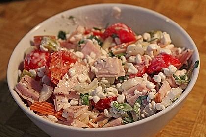 Putenwurstsalat mit Hüttenkäse 2