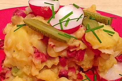 Kartoffelsalat mit Radieschen und Speck 16