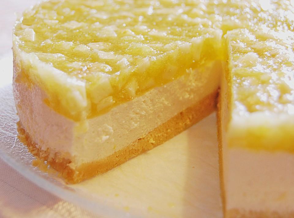 Creme Fraiche Torte Mit Grunem Apfelgelee Von Nadini95 Chefkoch De