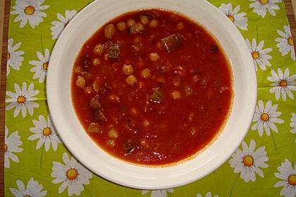 Tomaten - Kichererbsen - Suppe 3
