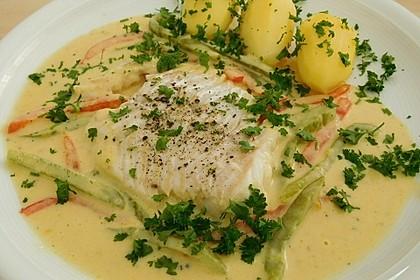 Fisch auf gelber Paprikasoße 4