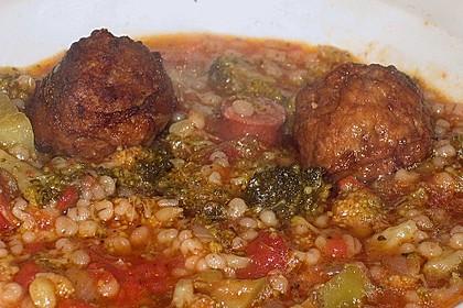 Zucchinieintopf mit Graupen und Tomaten 1