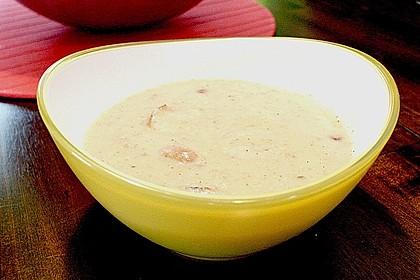 Urmelis schnelle Champignon - Kartoffel - Suppe mit Thüringer