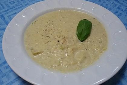 Zucchinicremesuppe mit getrockneten Tomaten 4