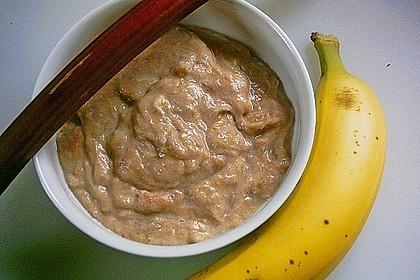 Rhabarber - Bananen - Dessert 12