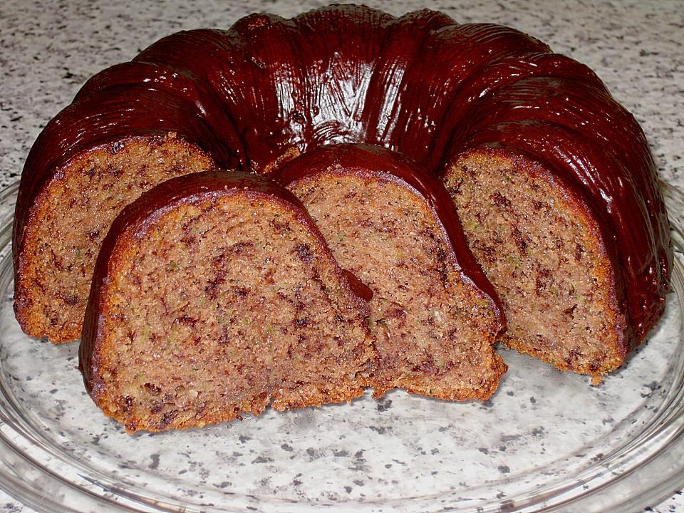Saftiger Zucchini Kakao Kuchen