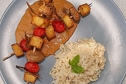 Tofu - Gemüse - Spieße 2