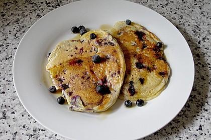 Pancakes mit Blueberries 12