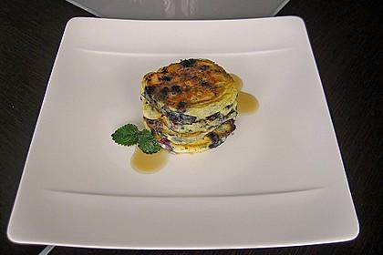 Pancakes mit Blueberries 2