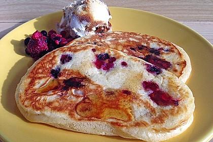 Pancakes mit Blueberries 3