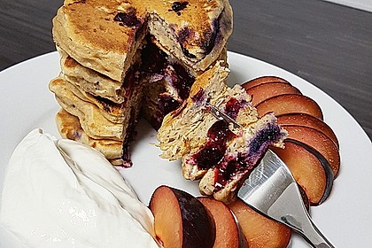 Pancakes mit Blueberries 8