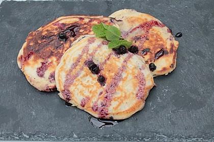 Pancakes mit Blueberries 32