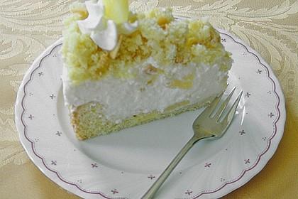 Ananas - Sahnetorte mit weißer Schokolade 2