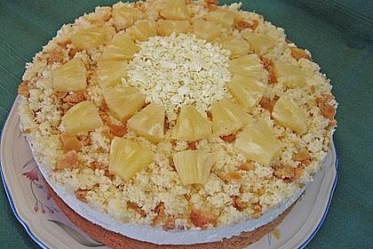 Ananas - Sahnetorte mit weißer Schokolade 3
