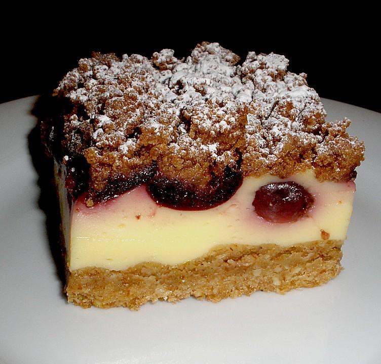 Kirsch Pudding Streuselkuchen Von Mima53 Chefkoch De