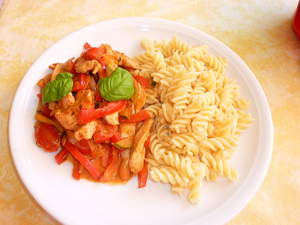 Sommerküche Italienische : Geflügelgeschnetzeltes italienische art von brataj7148 chefkoch