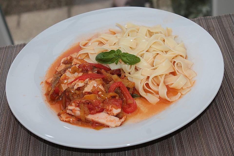 Leichte Italienische Sommerküche : Geflügelgeschnetzeltes italienische art von brataj7148 chefkoch.de