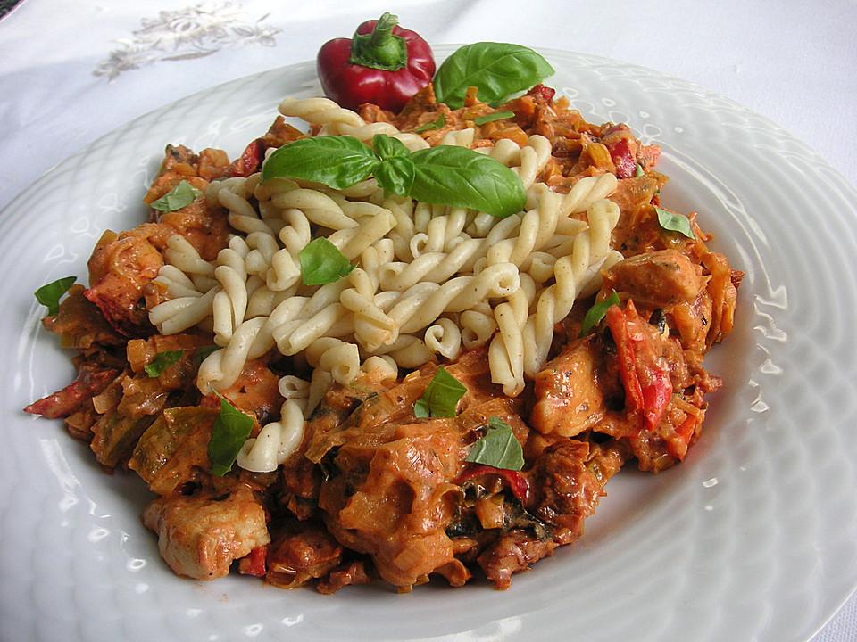 Italienische Sommerküche : Geflügelgeschnetzeltes italienische art von brataj chefkoch