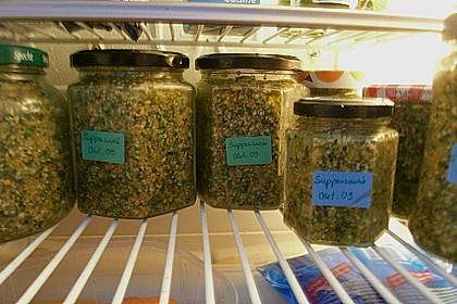Eingesalzenes Gemüse für Gemüsebrühe 17