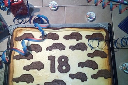 Russischer Zupfkuchen vom Blech für den Kindergeburtstag 123