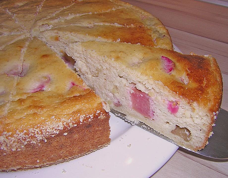 Rhabarber Quark Kuchen Von Cakinganni Chefkoch De