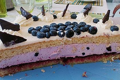 Heidelbeer -Joghurt -Topfen Torte 1