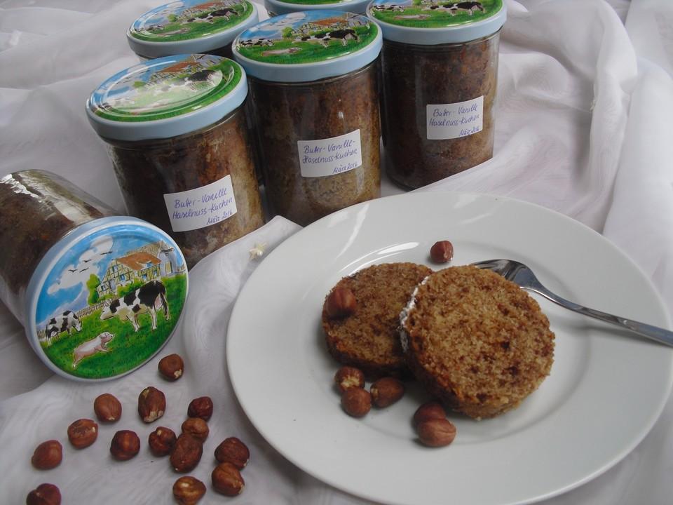 Butter Vanille Haselnuss Kuchen Im Glas Mit Schokotropfchen