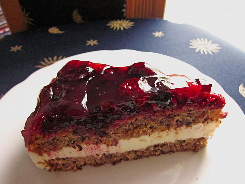 Himbeer Nuss Sahne Schnitten Von Sandy07 Chefkoch De
