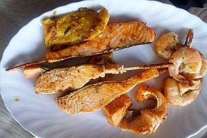 Fischplatte vom Grill 1