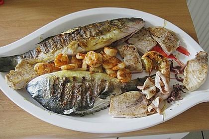 Fischplatte vom Grill