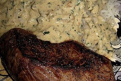 Rindersteaks mit Senf-Estragon Sauce 10