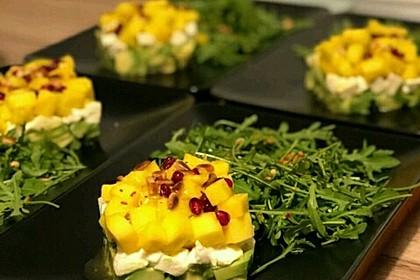 Avocado-Mozzarella-Salat mit Mango 4