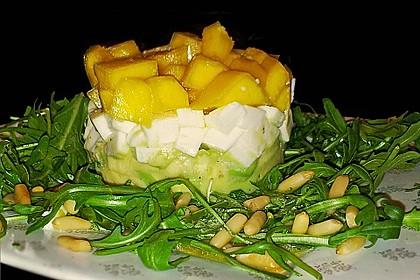 Avocado-Mozzarella-Salat mit Mango 21